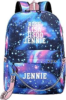 Blackpink Mochila Casual Mochila Starry Sky Casual School Bags Cadena de Moda Decoración Mochila con Puerto de Carga USB Unisex (Color : A08, Size : 32 X 14 X 44cm)