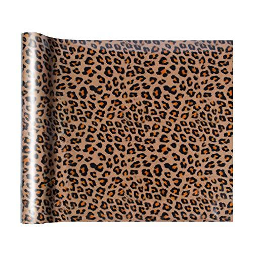DesignSter Leopard Wärmeübertragung Vinyl A4, Heat Transfer Vinylblättern Set für DIY T-Shirt, Buchstaben, Aufkleber, Schilder, Textilfolien Transferpapier Transferfolie