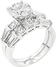 JGOODIN Engagement Ring with Large Center Stone Size 6