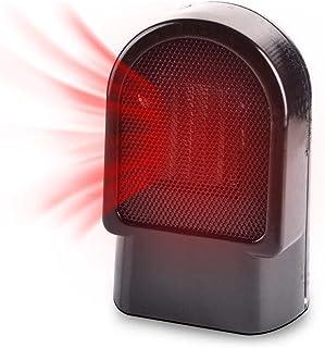 Termoventilador/heizlüfter Mini, Mini de calefacción eléctrica pequeño Radiador con protección de inclinación y protección, 500W, para casa oficina cuarto de baño.