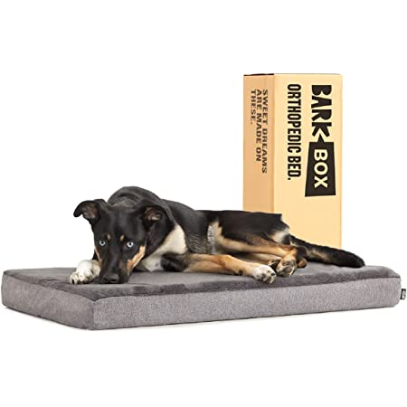Barkbox Memory Foam Platform Dog Bed   Plush Mattress for Orthopedic Joint Relief   Machine Washable Cuddler with Removable Cover and Water-Resistant Lining   Includes Squeaker Toy