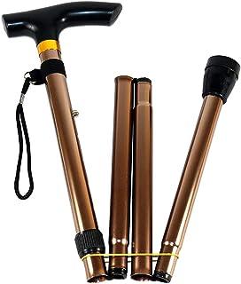 BETOY Vikbar justerbar promenadkäpp/käpp - lätt, halkfri bas, unisex promenadstav för män kvinnor, bärbar käpp med T-handtag