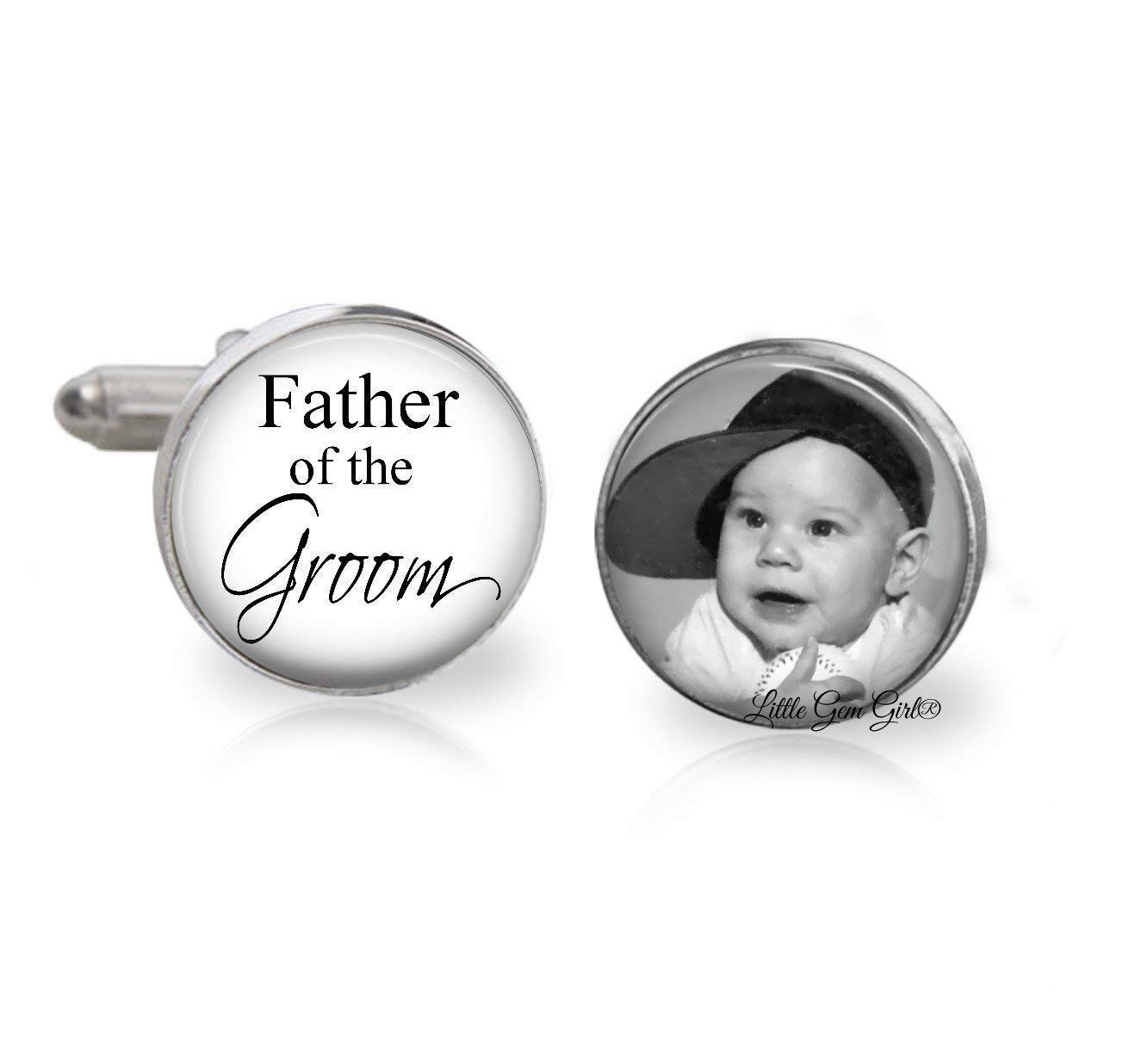 Custom Photo Father of the Groom Links At the price Cuff free shipping Personalized yo with