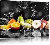 Pixxprint Früchte im Wasser als Leinwandbild | Größe:
