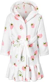 Betusline Girls' Robe Soft Cute Bathrobe with Ruffle Hem, 18 Months - 12 Years