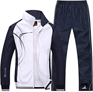 Men's Athletic Striped Tracksuit Joggers Running Sports Style Sweat Suits Set