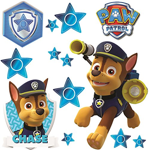 alles-meine.de GmbH 13 TLG. Set _ Fensterbilder -  Paw Patrol - Polizei Hund Chase  - selbstklebend + wiederverwendbar - Sticker Fenstersticker Aufkleber - Fensterbild / z.B. f..