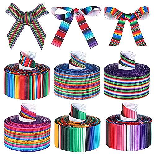 Moligh doll 6 Rollen Karneval Grosgrain Ribbon Geeignet für DIY Verpackung Girlande Bowknot Crafts Dekoration Party Supplies B