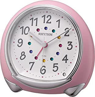 RHYTHM (Rhythm Clock) Fancy continuous second hand Alarm Abisko SR pink 8RE653SR13