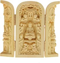 sharprepublic Buddhism Statues Kwan-Yin Statue Statute of God Carved 3 Wood for Collector - Style-3, as described