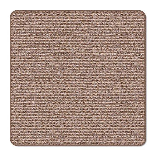 House, Home and More Skid-Resistant Carpet Indoor Area Rug Floor Mat - Praline Brown - 3 Feet X 3 Feet
