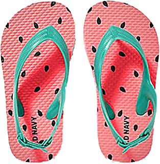 Toddler Girls Flip Flops - Beach Water Shoes Sandals with Back Strap