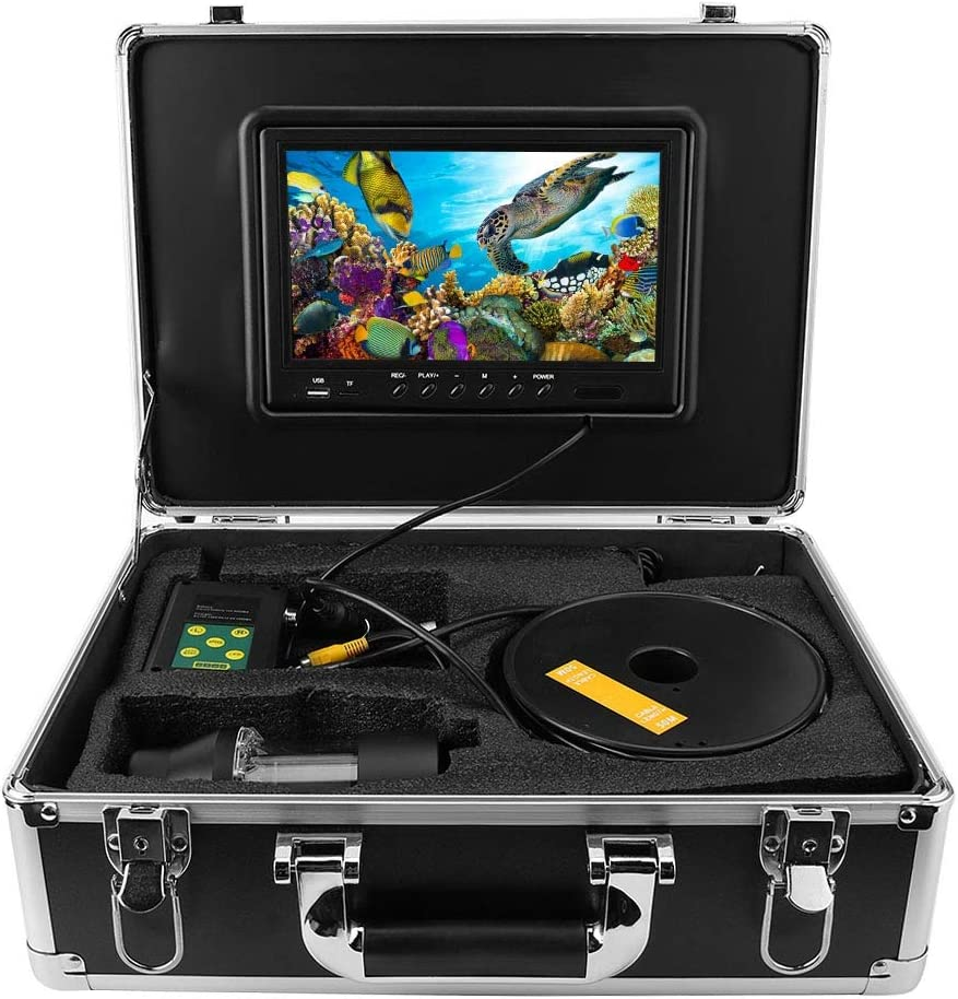 100-240v cam/éra vid/éo HD Fish Finder Yanmis Cam/éra de p/êche sous-Marine 100M European Standard pour