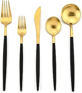 gold flatware modern