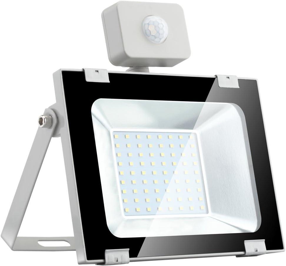LED Strahler Sararoom LED Scheinwerfer 30W lED Lampe Flutlicht mit Bewegungsmelder Superhell 6000K-6500K Kaltwei/ß 2700LM IP65 Wasserdicht f/ür Garten Garage Korridor Sportplatz
