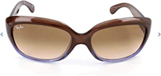 RAY-BAN Women's RB4101 Jackie Ohh Sunglasses, Brown Gradient Lilac/Brown Gradient, 58 mm