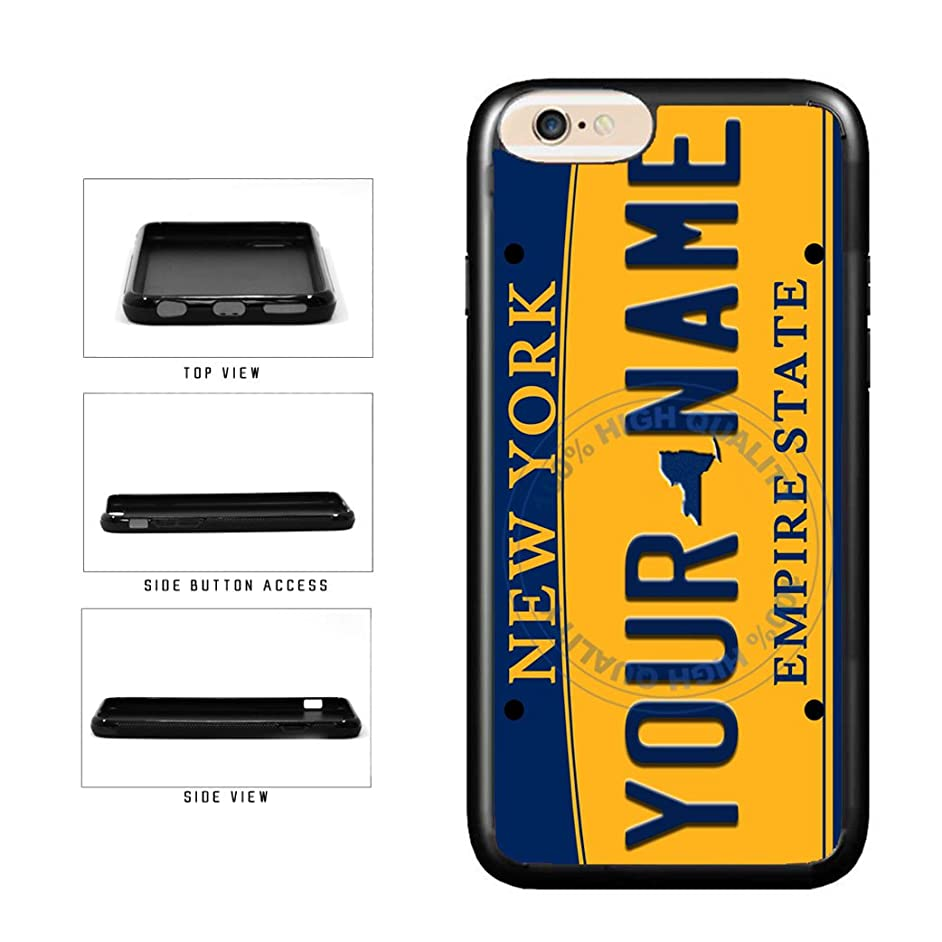 BleuReign(TM) Personalized Custom Name New York State License Plate TPU RUBBER SILICONE Phone Case Back Cover For Apple iPhone 6 Plus and iPhone 6s Plus (5.5 Inches Screen)