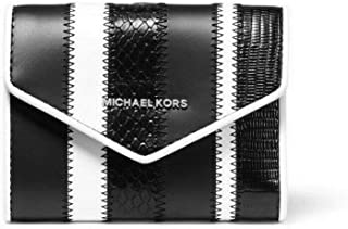MICHAEL Michael Kors Small Striped Blakely Leather Envelope Wallet