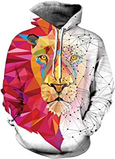 Unisex Realistic 3D Digital Print Pullover Hoodie Hooded Sweatshirt with Pocket
