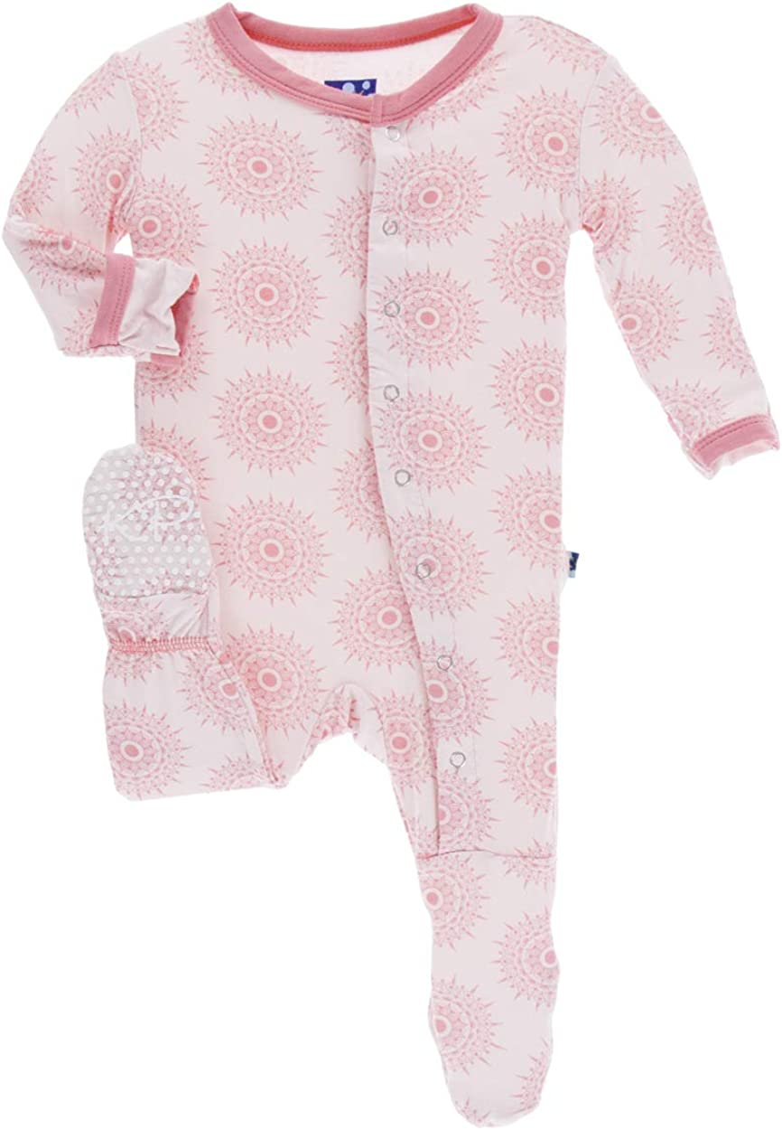 Kickee Pants Little Baltimore Mall Girls Print Footie Man with store - Macaroon Snaps