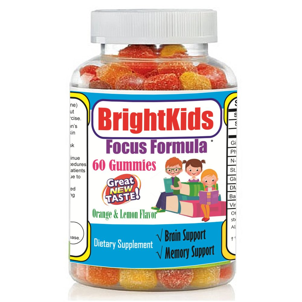 Best Kids Focus And Attention Gummies Chewable Brain Supplement Factor Supplement For Kids And Teens Brain And Memory Power Boost Brain And Focus Supplements Omega Add Natural Supplements For Kids Buy
