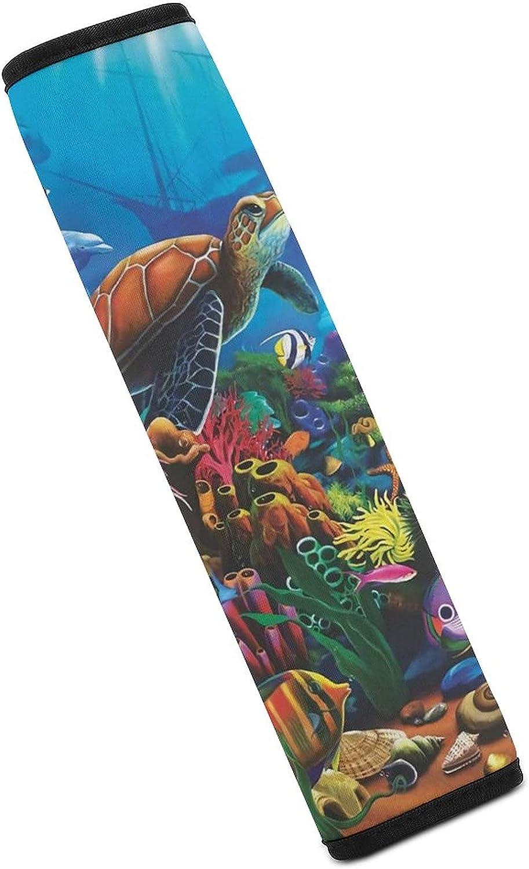 ZIXKPEZMG Multicolor Under The supreme Sea Life Seat Shoulder Belt OFFicial shop P Car