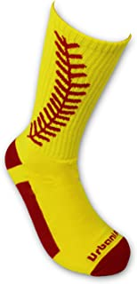 Urbanifi Athletic Sports Mid-Calf Socks Boys Coach Men Women Girls Players Gift Baseball Softball
