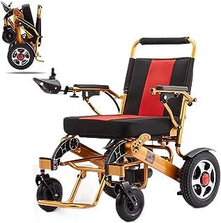 Sillas de ruedas eléctricas para adultos Ligera eléctrica plegable de Ruedas Eléctrica Movilidad Ayuda for adultos, Aviación viaje seguro ayuda a la movilidad con silla de ruedas, al aire libre Silla
