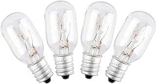 WE4M305 Dryer Light Bulb for GE/General Electric 120v 10watt Appliance Bulb (4 pack)