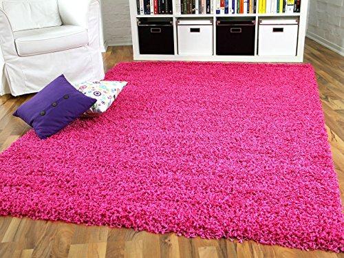 Aloha Hochflor Langflor Shaggy Teppich Pink Rosa Flieder - Sofort Lieferbar in 8 Größen