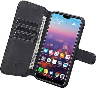 AQAA Huawei P20 lite ケース 手帳型nova3e/ P20 liteケース ワイヤレス充電対応 スマホケース 横置き機能 Arae カードポケット付き ファーウェイ P20 ライト 用 財布型 ケース カバー(ダークブルー) (グレー)