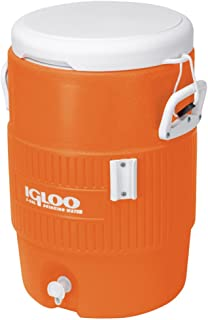 Igloo 5 Gallon Cooler with Seat Lid in Orange