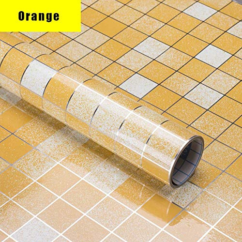 yuandp Hochtemperatur Küche ölbeständige Fliesentapete Heimtextilien Anti-Fouling wasserdicht leicht zu waschen Mosaik Wandaufkleber 45cm x 5m