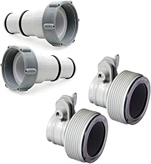 Intex Replacement Hose Adapter A w/Collar for Threaded Connection Pumps (Pair) Replacement Hose Adapter B w/Collar for Filter Pump Conversion (Pair)