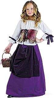Limit Sport - Disfraz de tabernera medieval para niña (MI680)