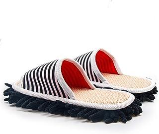 お掃除スリッパ マイクロファイバー 超極細繊維 Pidor 履いて歩くだけで掃除 繰り返し履ける 付き替えモップ (黑)