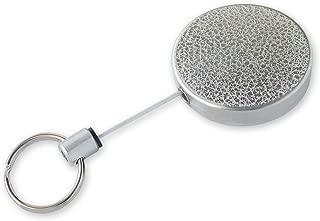 Lucky Line Heavy Duty Retractable Key Reel, Standard-Size, Silver (46701)