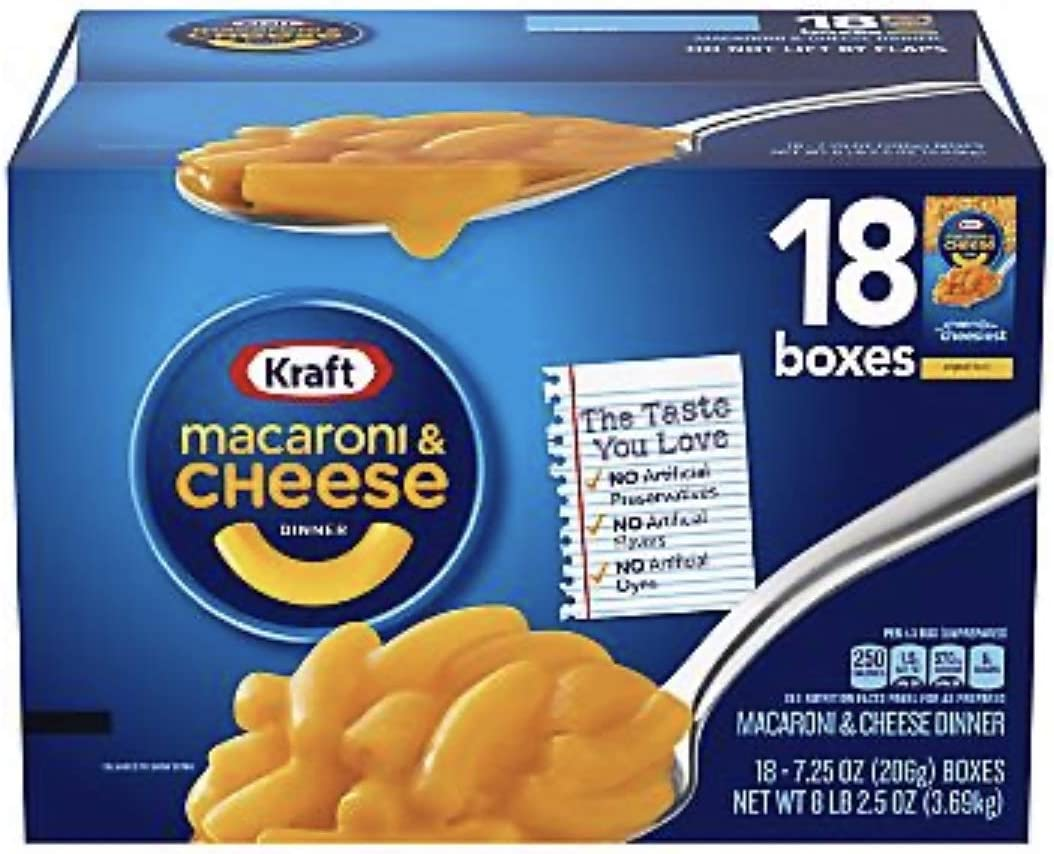 Kraft Clearance SALE Max 50% OFF Limited time Original Flavor Macaroni Cheese Dinner pk. 7.25 18 oz.