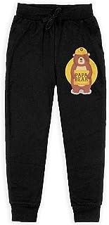 Yuanmeiju Papa Bear Boys Pantalones Deportivos,Pantalones Deportivos for Teens Boys Girls