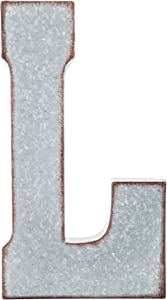 Hobby Lobby Home Décor X-Large Galvanized Rustic Industrial Metal Letter Wall Hanging Table Decor - L
