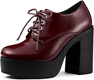 Allegra K Women's Platform High Chunky Heel Ankle Boots