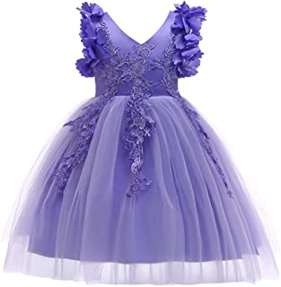 1-12T Big/Little Girl Flower Lace Christmas Dresses Birthday Tulle Dress for Communion Party Wedding