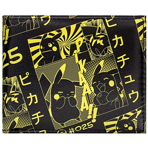 Pikachu Pokemon Japanischer Stil Portemonnaie Geldbörse Schwarz