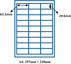 Joyeee Removable Blank Self Adhesive Shipping Mailing Stickers for Laser/Inkjet Printer, Barcode FBA Labels, Peel with Ease, 27-up Labels 63.5 X 29.6 mm on A4 (100 Sheets, 2700 Labels)