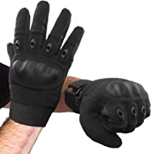 Tactical Gloves Hard Knuckle, Airsoft Gloves with Touch Screen for Men & Women Shooting Army Military Training, Full Finge...