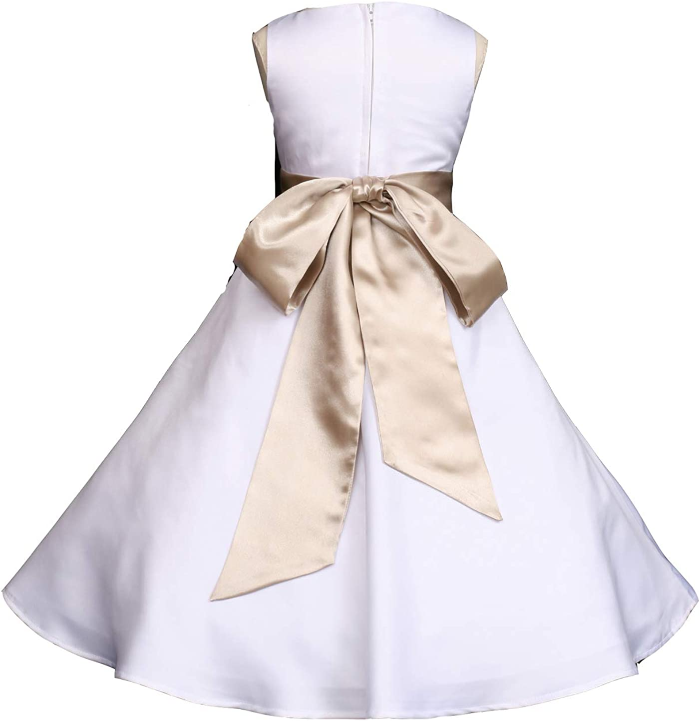 Pink Promise Wedding Dallas Mall Pageant White Jr. Satin Quality inspection Matte A-Line Brides
