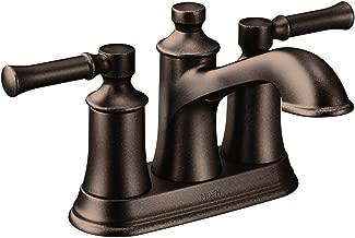 Moen 6802ORB Dartmoor Two-Handle Low Arc Bathroom Faucet, Oil Rubbed Bronze