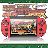 Handheld Game Console Portable, Built-in Free 1000 Retro Video FC Games, 5.1 Inch LCD Screen Family Recreation, NES/GB/GBC/GBA/MD/PS1/Arcade Games, Present for Kids and Adult, Support MP4/TXT