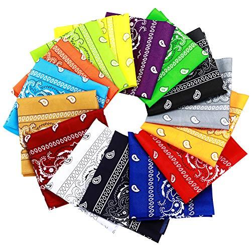15pcs Bandanas Multi-Purpose Party Outdoor Favor Scarf Headband Handkerchiefs for Unisex Women Men Boy Girls