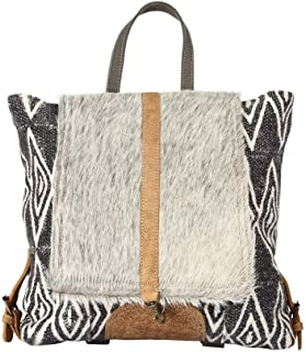 Myra Bag Grizzle Cowhide & Upcycled Canvas Backpack S-1205